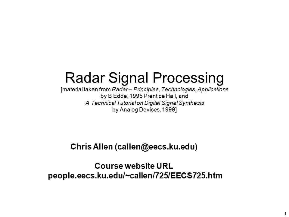 a research on radars and the radar signaling process The latest version of this title is radar, sonar & navigation,  radar and signal processing home popular  multistage imaging process in digital sar imaging.